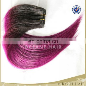 new products virgin brazilian two tone hair color blue hair weave color