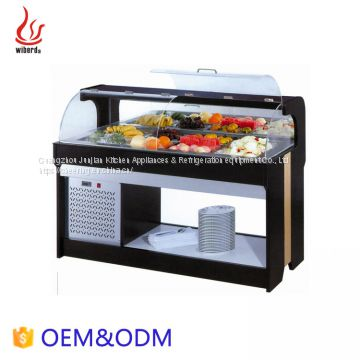 Catering equipment Boat shape Salad bar Refrigerator sale