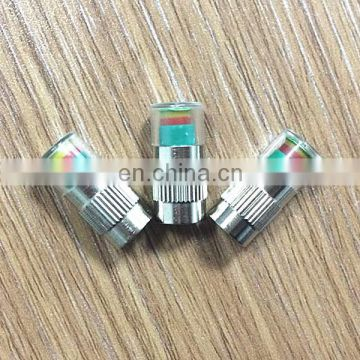 Color Tire Valve Cap With Pressure Indicator For Auto