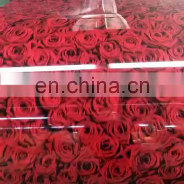 Color Coated Flowered Patten Galvanized Steel Coils PPGI