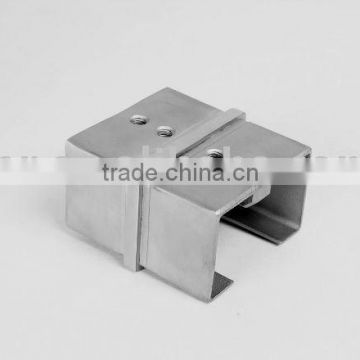 SS/stainless steel connector for rectangular slot tube