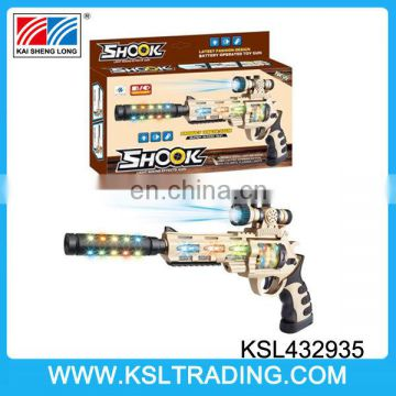 Infrared battery operated electric tommy ak 47 toy gun with shake and music