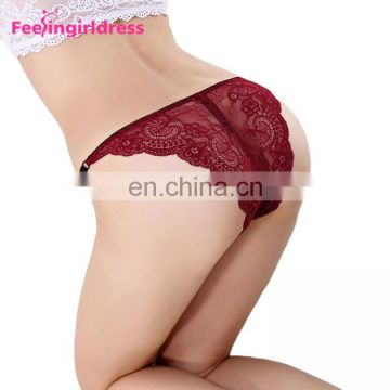 Yiwu Wholesale Seamless Lace Low Waist Adult Women Sex Underwear