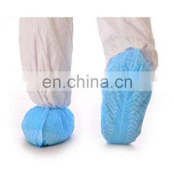 Disposable blue nonwoven anti-skid shoe cover