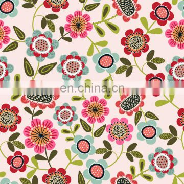 Factory Direct Rayon Elastic Jersey Fabric Custom Digitally Printed 95% Rayon 5%spandex