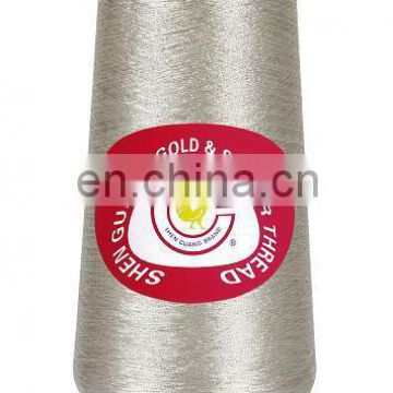 Pure silver metallic thread for embroidery