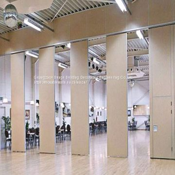 Multi Color Movable Operable MDF Aluminium Frame Banquet Hall Folding Partition Wall
