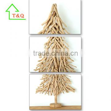 2016 Unique Artificial Wooden Christmas Tree Raw Material For