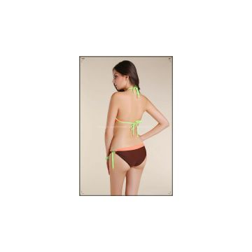 2013 new twist bandeau top cheeky hipkini bottom bikini swimwear