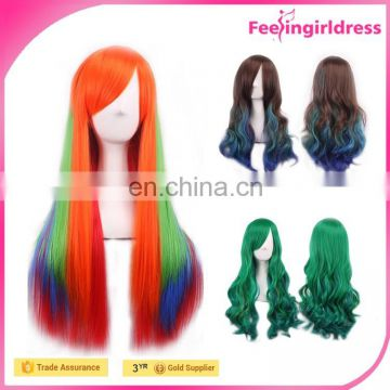 Coloful men japanese hot cosplay wig synthetic hair wigs for men