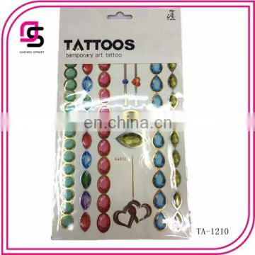 2015 fashion good quantity women's body art tattoo sticker