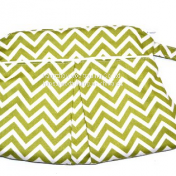 Full printed chevron clutch with handle from factory directly