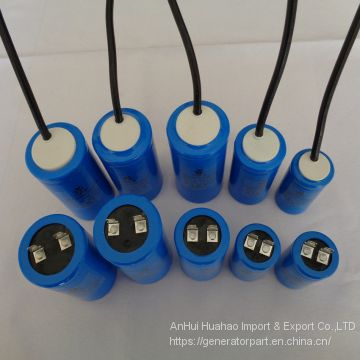 CD60 50UF 100UF 150UF 200UF 250UF 250VAC Cable AC Motor Start Capacitor