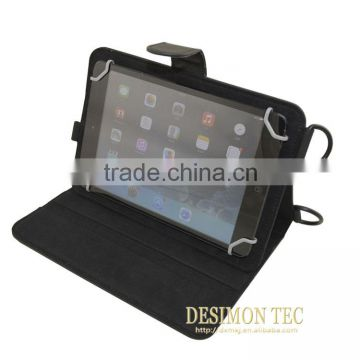 Texture flip Leather Case cover For Samsung Galaxy Tab T110 shoulder neck strap LOGO custom shenzhen