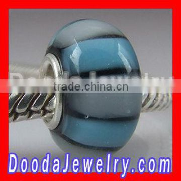 2013 fashion trend 925 silver core lampwork glass Jewelry beads wholesale