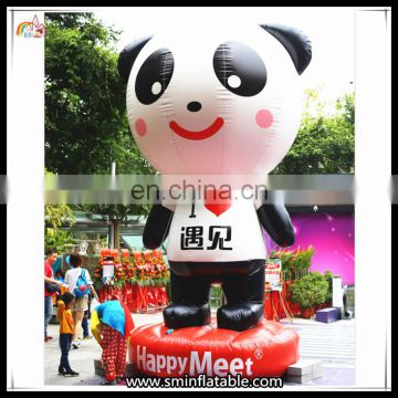 Outdoor Inflatable Panda Advertising Promotional Panda Cartoon On Sale