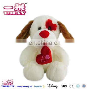 2016 Plsuh dog toy with heart soft stuffed plush toy 0407