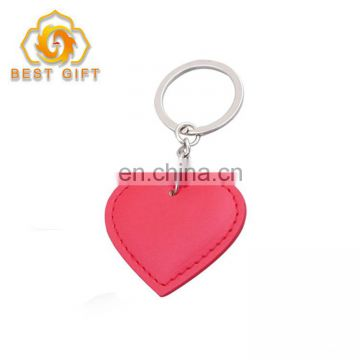 Creative Special Wedding Souvenir Heart Shape Leather Keyring