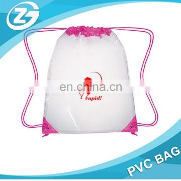 Cosmetic Packaging Promotion Custom Travel Cheap Clear PVC Drawstring Bags