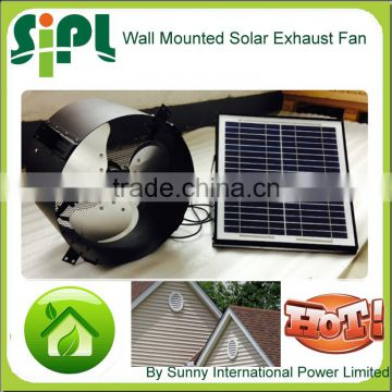 Vent tool new idea solar powered ventilation fan air conditioner exhaust fan wall mounted exhaust fan with dc motor