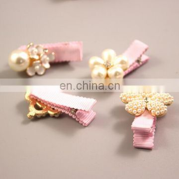 Baby Dainty Pink Hair Clips With Pearling Toddler Hair Bows For Baby Girl Birthday Gift