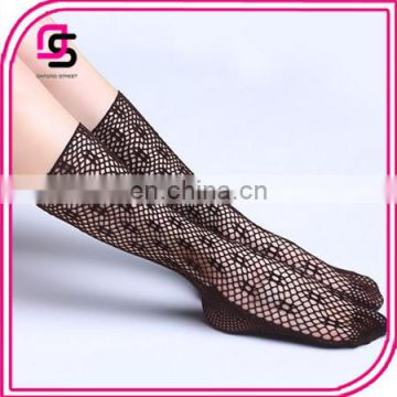 Fashionable Ladies Design breathable Knee-high fishnet socks
