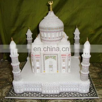 Hand Crafted Marble Taj Mahal Model Replica GIft
