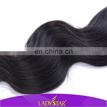 Good feedback on Aliexpress Ladystar Brazilian hair wholesale price/cheap virgin Brazilian body wave hair