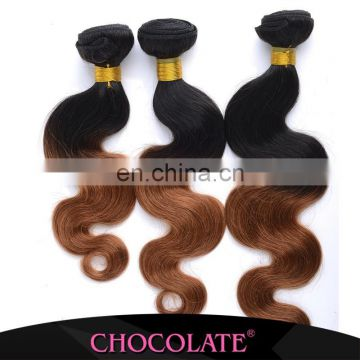 aliexpress uk top quality Brazilian Hair Chocolate Human Hair Extension Chocolate ombre black & Brown Hair