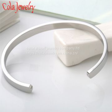 Custom Inspirational Jewelry Fashion Stainless Steel Cuff Bangle Bracelet