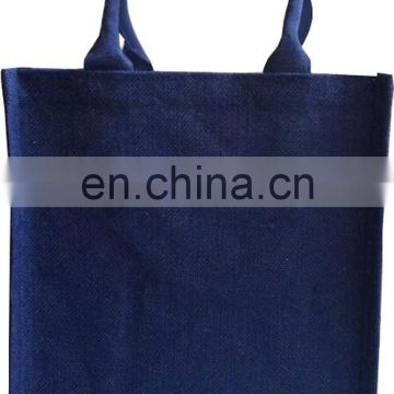 Eco Environment Friendly promotion natural jute bottle bag for wine and beer