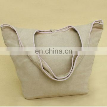 Factory price custom printing eco shopping jute tote bag with zipper
