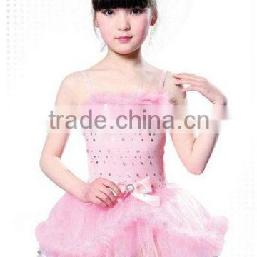 0908 Best dress for farewell party latin dance costumes child tutu skirt dress