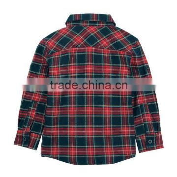 (A3923) 2-6Y nova kids wear polo cotton shirts wholesale baby clothing winter kids polo long sleeve checker shirts