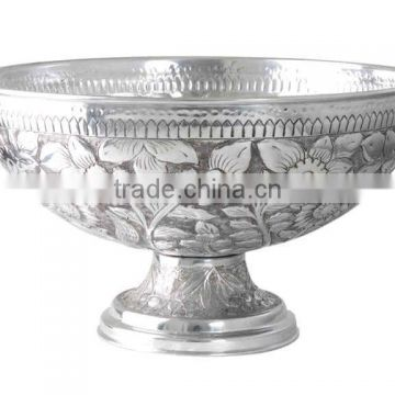 aluminium cast round eitching silver plated wine cooler