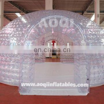2015 hot sale different design best inflatable Sealed transparent dome tent