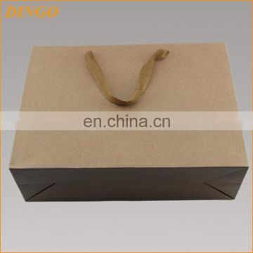 Custom made restaurant kraft paper bags with handle