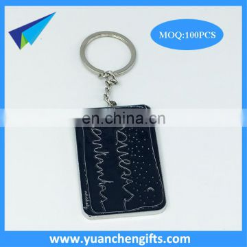 Hot selling gold color enamel custom key tags with embossed logo