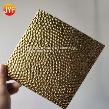 Embossed colored decorative stainless steel sheets for exterior decoration