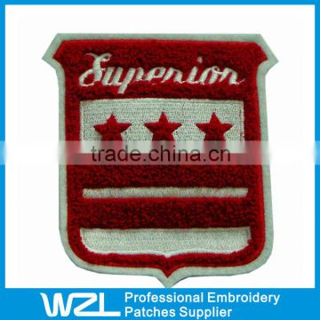 Hand Custom Cheap Embroidery Chenille Fabric Patches/Badges                                                                         Quality Choice