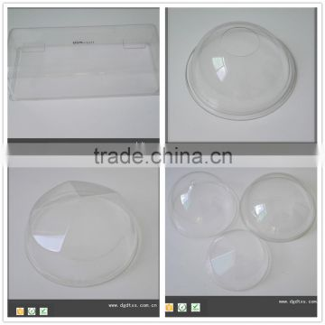 Large transparent lamp PC cover by vacuum forming