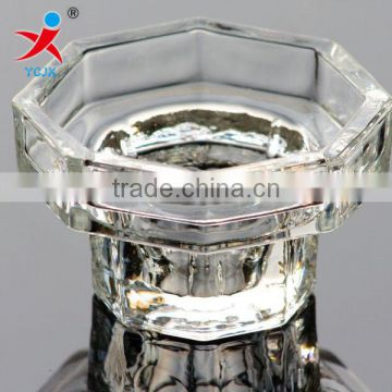 high temperature resistant transparent glass candle holders