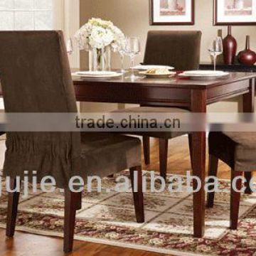 stretch suede dining room chair cover