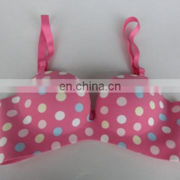 Women sexy new color pink spot seamless bras