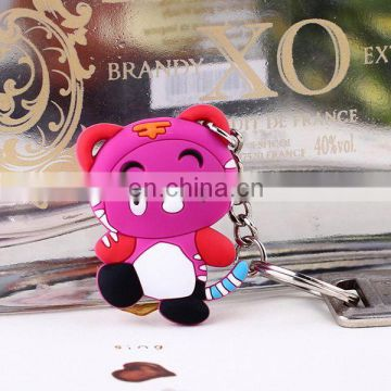 custom made fashionable silicone shopping cart coin keychain