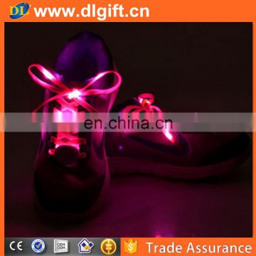 2017 new lights flashing luminous glow in the dark platube shoelaces light up shoe lace led shoelace