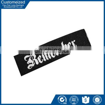 Custom Designed New Style Neck Label For T-shirt