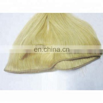 Wholesale best fashion blonde weft sew in human hair extensions