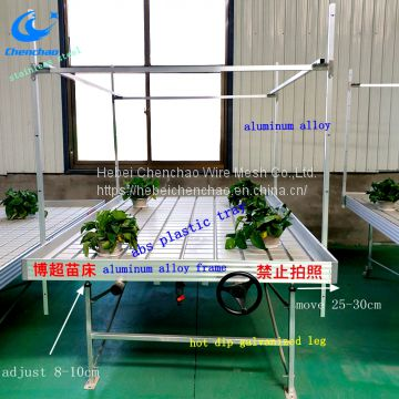 High Quality Size 4ftx8ft Ebb Flow bench for greenhouse,hydroponic ebb rolling table