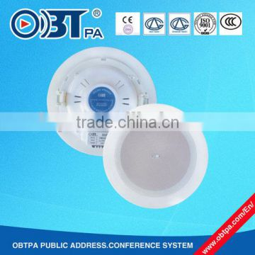 Obt 808 5w 10w Abs Plastic Ceiling Speaker For Hotels Airports Harbors